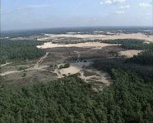 Aerial shot large area of shifting sands in the Netherlands Stock Footage