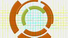 rotation computer circles interface & mesh tunnel,tech GPS tracking system. - stock footage