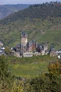Stock Photo of germany, rhineland palatinate, view of imperial castle in cochem