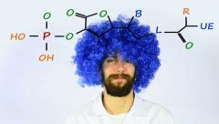 Blue Hair Growth Tonic - stock footage