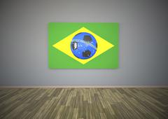 Stock Illustration of brasil blue football