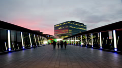 Time Lapse of Westfield in Stratford, London Stock Footage
