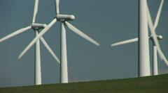 Group of wind turbines - stock footage