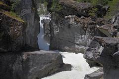Nairn Falls Provincial Park, Whistler Stock Photos