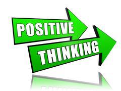 Positive thinking in arrows Stock Illustration