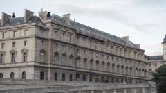 36 QUAI DES ORFEVRES - PARIS BUILDING # 7 Stock Footage