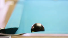 Black ball corner pocket Stock Footage