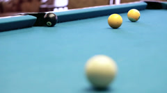 Black ball center pocket Stock Footage