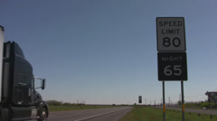 Speed limit in Texas 3 Stock Footage