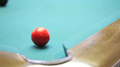 Red ball corner pocket Stock Footage