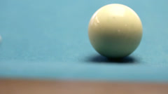 Hitting the que ball Stock Footage