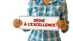 Dedicated to excellence (in french) Stock Photos