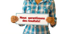Stock Photo of we deliver results (in french)