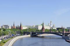 Kremlin embankment Stock Photos