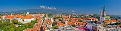Historic city of zagreb panoramic Stock Photos