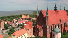 Frombork, Cathedral Hill, Poland Stock Footage