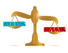Earning and expenses balance illustration design Stock Illustration