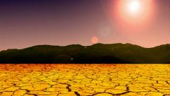 Natureza dry hot desert sun time lapse california water drought sunny animated Stock Footage