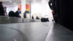 Luggage claim area in the airport - stock footage
