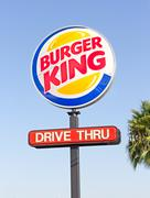 sacramento, usa - september 13: burger king pole sign on september 13, 2013 i - stock photo