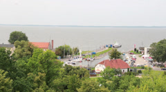 Frombork, Poland - harbor. Stock Footage