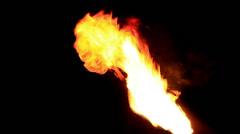 Fireballs. - stock footage