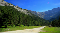 Nature park in Pyrenees mountains. - stock footage