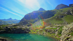 Pyrenees mountains summer landscape. Stock Footage