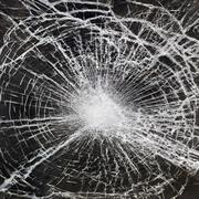 Stock Photo of broken glass
