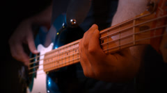 Bass guitar Stock Footage