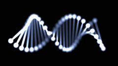 DNA on a black background / LOOP Stock Footage
