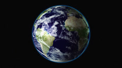Earth rotates in space / LOOP Stock Footage