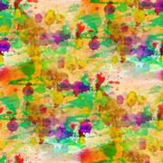 Glare from watercolors painting colorful background Stock Illustration
