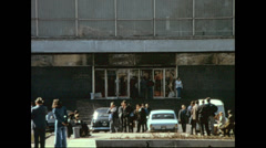 Leningrad 1974: people outside the hotel Stock Footage