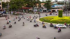 1080 - TRAFFIC IN VIETNAM - HO CHI MINH CITY - Time Lapse Stock Footage