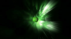 Go Green Related Words Text Wrapped Globe Rotating in Outer Space - stock footage