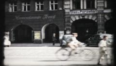 403 - street scene in post war Germany - vintage film home movie Stock Footage