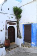 kasbah of oudayas - stock photo