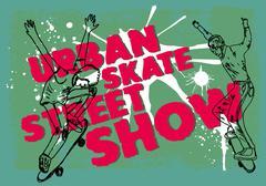 Urban skate spirit vector art Stock Illustration