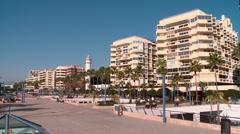Marbella paseo maritimo Stock Footage