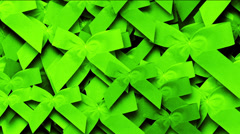 Green bow-knot background,chrismas & holiday decoration. Stock Footage