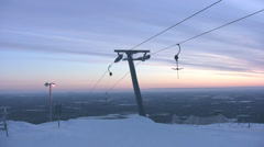 Top of skilift with halyards Stock Footage