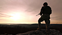 Army Soldier Stock Footage