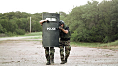 SWAT Team Raid - stock footage