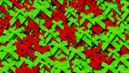 Stock Video Footage of green & red bow-knot background,chrismas & holiday decoration.