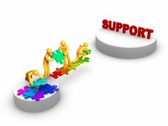 Stock Illustration of team work for support