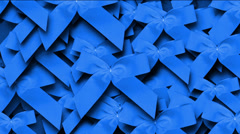 Blue bow-knot background,chrismas & holiday decoration. Stock Footage