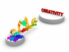 Team work for creativity Stock Illustration