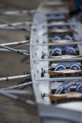 rowing canoe detail. - stock photo