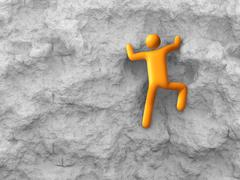 Rock climbing Stock Illustration